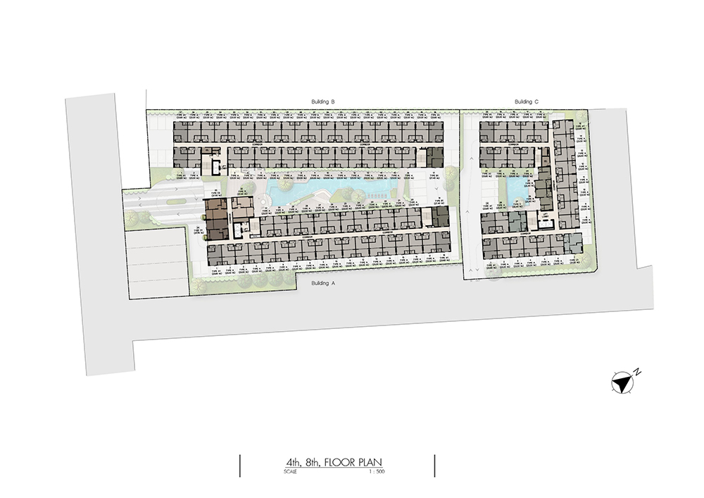 4th 8th Floor Plan